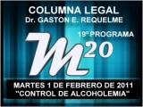 19&#186 Programa: Controles De Alcoholemia - 01 02 2011 - Magazine 20 - Cablevision