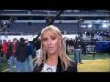 Ines Sainz With Marty Caswell On Dallas Media Day