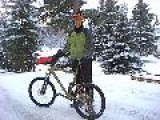 Icy, Snowy Bike Ride In Anchorage, Alaska