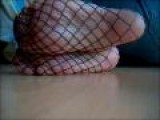 Sexy Fishnet Stockinged Feet