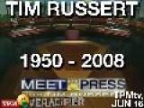 TPMtv: Sunday Show Roundup: Tim Russert, 1950-2008