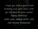 Jim Sturgess Birthday Video