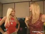Torrie Wilson And Stacy Keibler Backstage