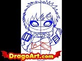 How To Draw Chibi Gaara, Step By Step