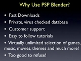 PSP Blender: PSP Games, Music And Movies