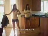 Two College Girl Dancing With Shorts