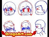 How To Draw Chibi Faces, Step By Step