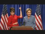Sarah Palin Vs. Tina Fey Katie Couric SNL Spoof