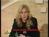 Moana Pozzi In Tribuna Elettorale Del PdA