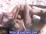 Three Sexy Teen Girls Catfight On The Beach 01