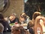 George Clooney Al Ristorante Con Elisabetta
