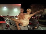 Holly Madison Larks About With Friends In A