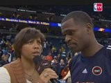 NBA Cheryl Miller Talks To Stephen Jackson