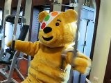 Pudsey Visits Queen Mary 2-Cunard Children In Need