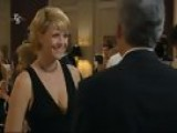 Amanda Tapping In A Low Cut Black Dress On Stargate That Shows Off Her Amazing Breasts!