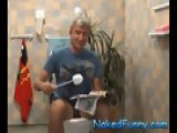 Elevator To A Toilet! Naked And Funny 2072