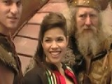 Access Hollywood - America Ferrera Docks Her 'Dragon' Viking Ship In Times Square
