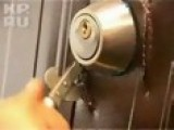 Breaking Of An Iron Door By A Can Opener