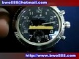 Swiss Replica Breguet Type XX Chronograph SS Black Dial