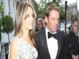 Elizabeth Hurley And Shane Warne Attend Elton's Tiara Ball