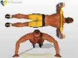 Ejercicio Muscular Flexiones De Brazo En El Suelo Para Pectorales